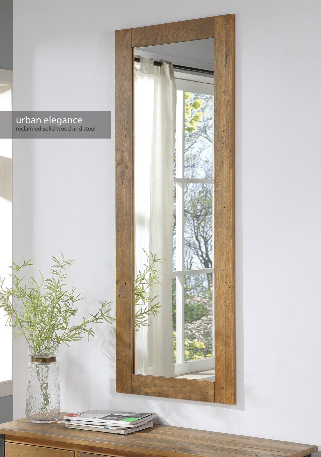 Reclaimed Extra Long Wall Mirror