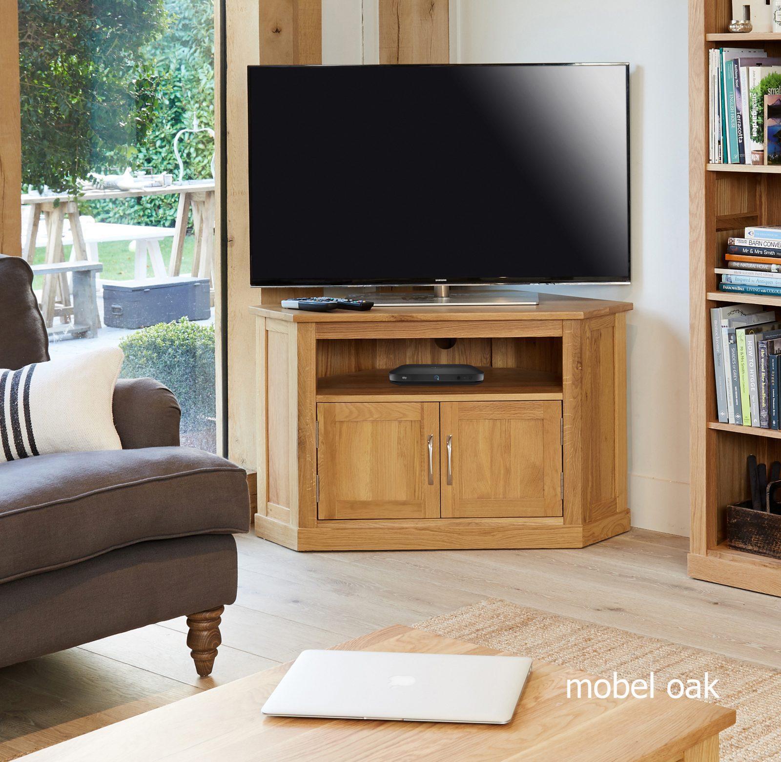 Oak corner tv stand, Corner tv unit